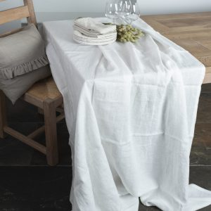 Samsø Linen Tablecloth (milky white)